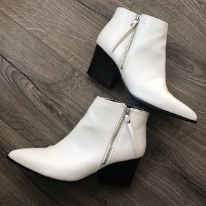 QUPID WHITE ANKLE BOOTS